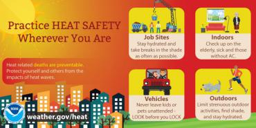 Practice heat safety infographic