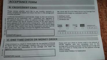 Water Line Insurance Offer