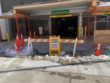 Image of Wilson Street Garage entrance - Closed