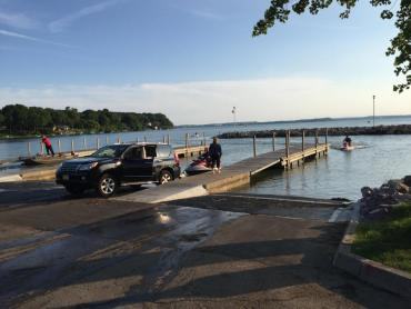 warner park boat launch in use