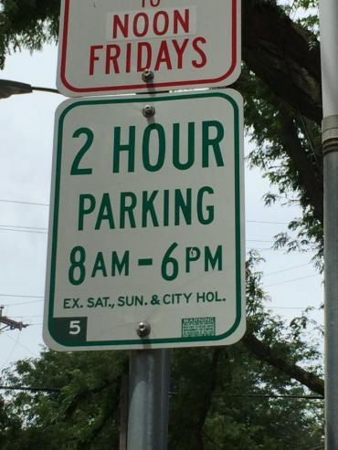 Image of 2hr Parking Sign
