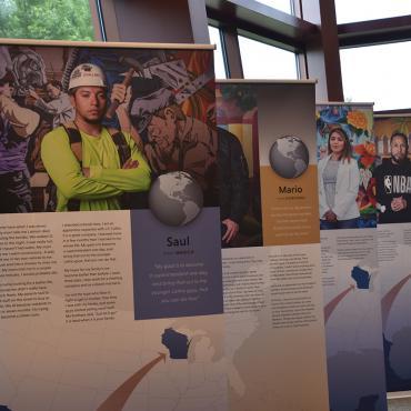 Immigrant Journeys exhibit