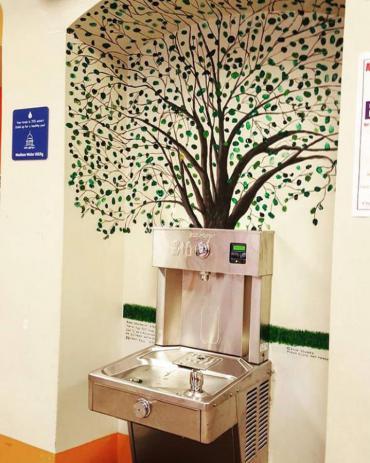 Bottle refilling station at Allis Elementary