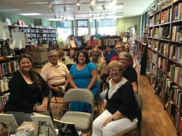 Audience at Angela Trudell Vasquez book tour