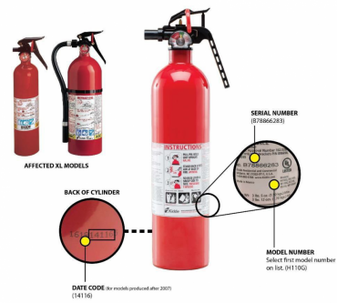 Kidde Fire Extinguishers With Plastic Handles