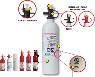Kidde Fire Extinguishers With Push Button Pindicator