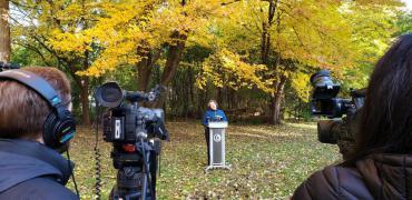 Leaf Press Conference, Mayor Satya Rhodes-Conway