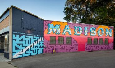 The Madison Mural (2020) by Triangulador and Henrique Nardi. Photo Credit Jim Escalante.