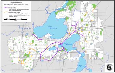 Map of bike paths