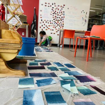 Maria Amalia Wood is the inaugural Artist-in-Residence at Pinney Library
