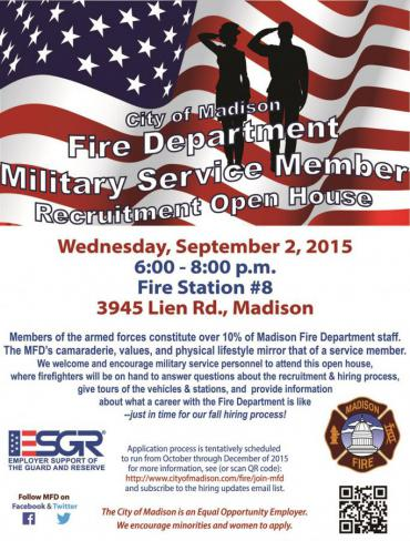 Military Service Member Open House flyer