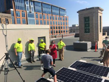 Flip the Switch event, roof of Madison Municipal Building