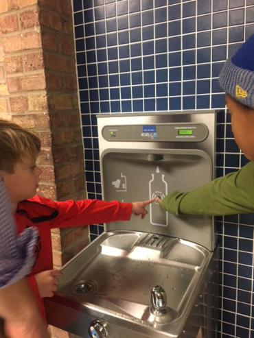 """Got Water?"" hydration stattion at Lindbergh Elementary"