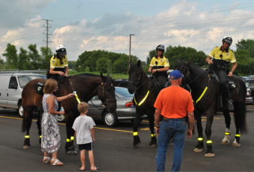 National Night Out horse picture