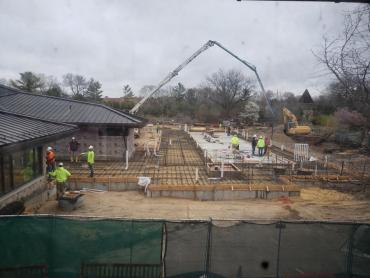 Olbrich learning center pour before