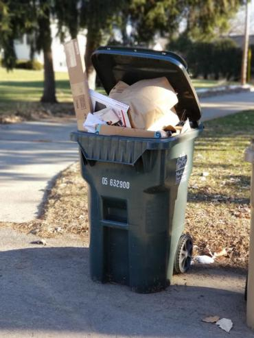 Overstuffed recycling cart? Many residents can receive a larger recycling cart for free. Just contact the Streets Division