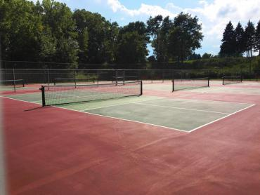 pickleball courts at Garner Park