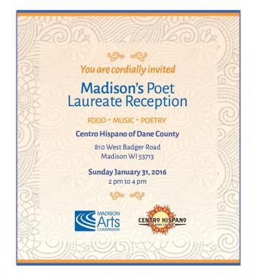 Invitation to the Poet Laureate Reception in English
