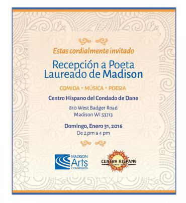 Invitation to the Poet Laureate Reception in Spanish