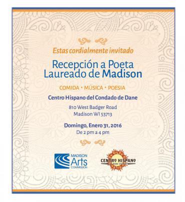 Invitation to the Poet Laureate Reception in Spanish