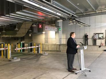 News Conference photo of speaker, Mike Verveer, District 4 Alder