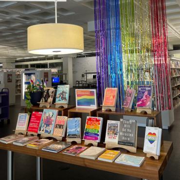 LGBTQ+ Book Display at Central Library