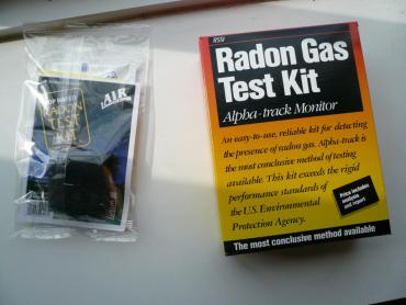 Use a radon test kit to test your home for radon