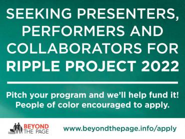 Apply for program funding from Beyond the Page for the Ripple Project 2022