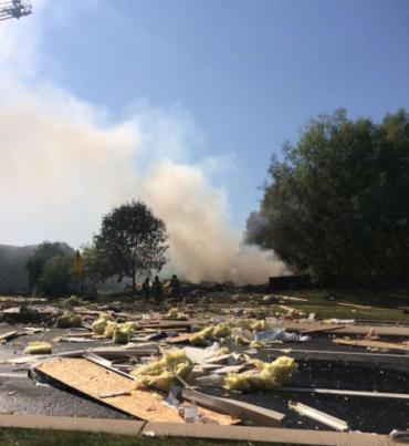 Stratton Way explosion scene