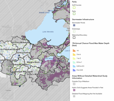 Watershed Study Flood Risk Map with Legend