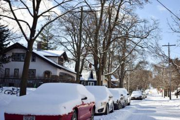 Proper winter parking that will help plowing operations
