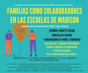 Familias como colaboradores en las escuelas de Madison