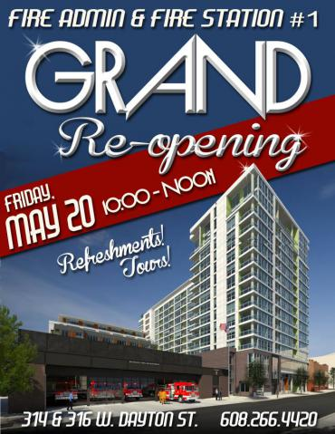 Station 1 Grand Re-Opening Invitation
