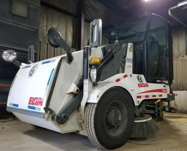 Street sweeper used by the Streets Division.