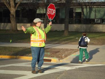 Image of Crossing Guard on Duty