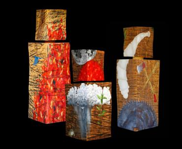 """Thomas Ferrella's artwork """"Gathering Shadows"""" from the exhibition Phoenix from the Ashes"""