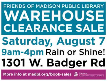 Friends  of Madison Public Library Warehouse Clearance Book Sale