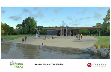Warner Beach Park Shelter render