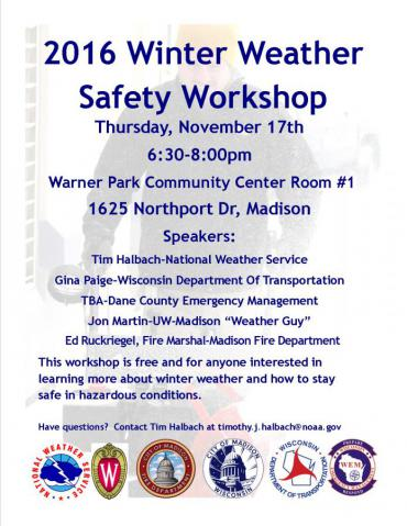 Winter Safety Workshop flier