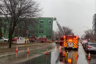 Fire crews on Fair Oaks Avenue