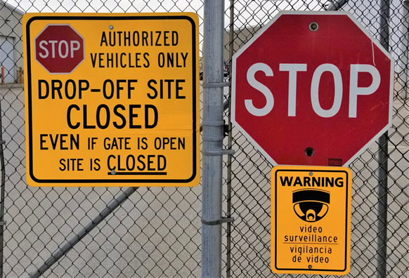 In an effort to help residents comply with Gov. Evers's Safer at Home order, the drop-off sites are closed until further notice.