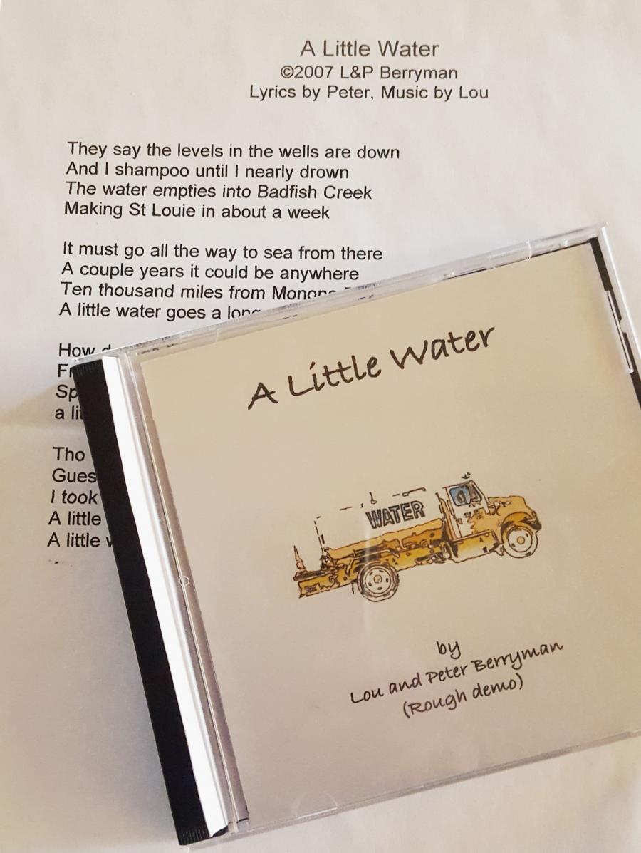 """A Little Water"" demo cd"