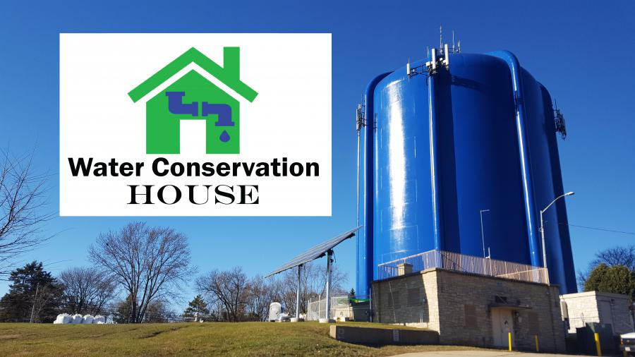 Water Conservation House site and logo
