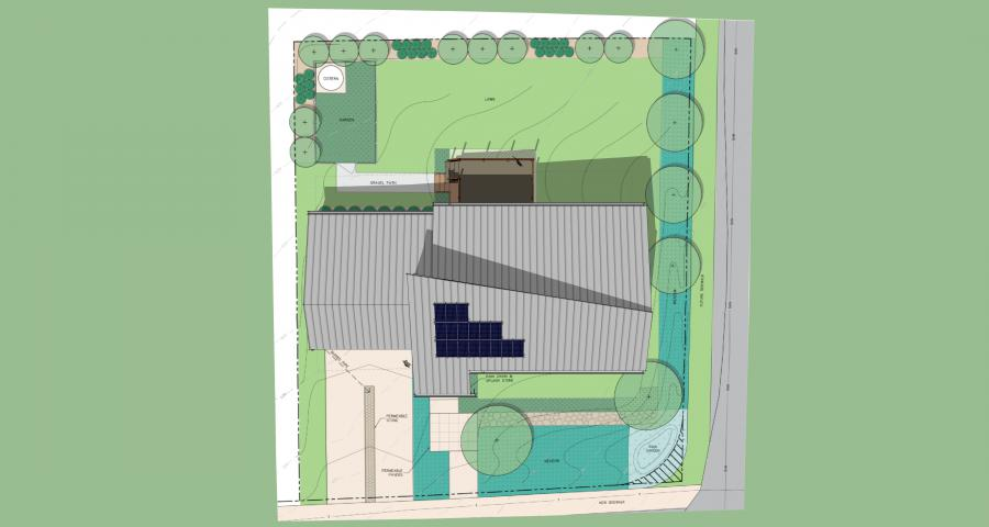 Water Conservation House site plan