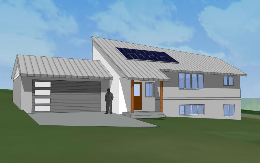 Water Conservation House rendering