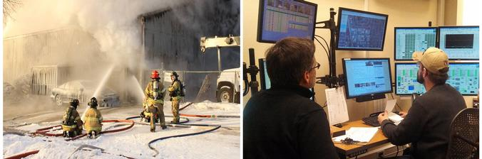 As crews fought Atlas Avenue fire, MWU employees monitor reservoir levels and pressure
