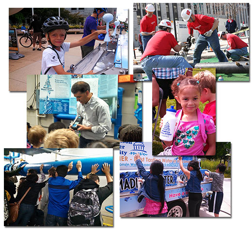 Montage of community outreach activities