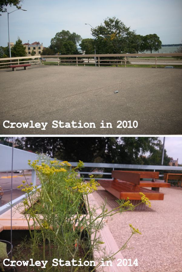 Comparison of Crowley Station in 2010 and now