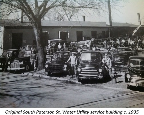 Original South Paterson St. Water Utility service building c. 1935