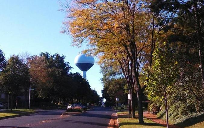 Water tower on far west side